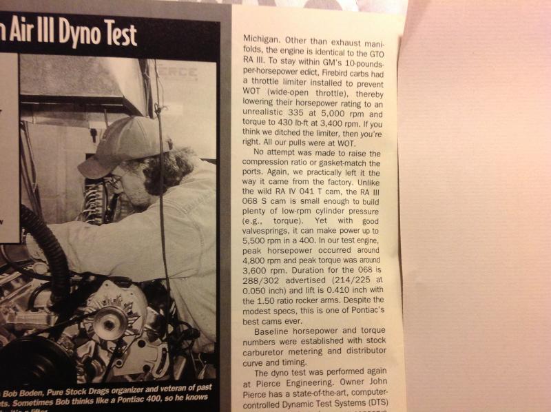 69 ram air dyno test - PY Online Forums - Bringing the Pontiac Hobby
